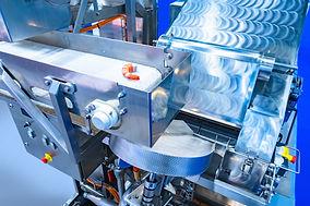 Shrimp processing conveyor. Food industr