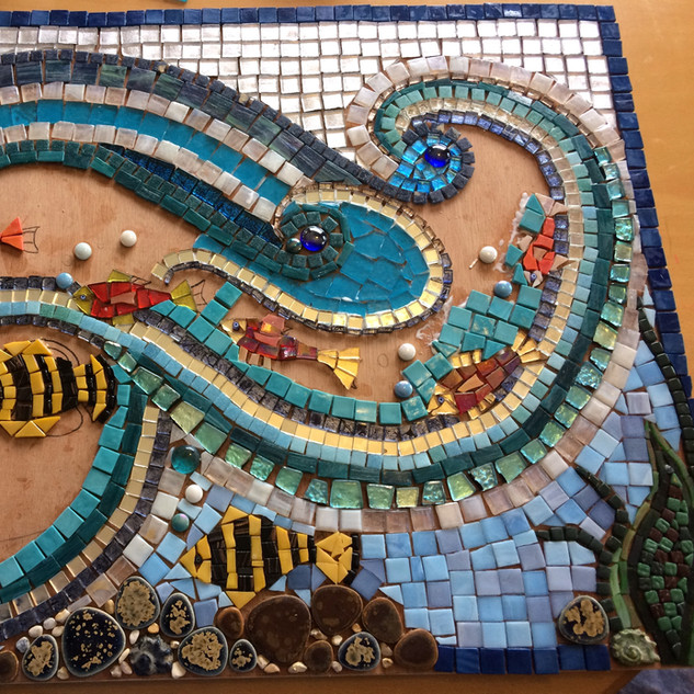 Old Hastings House wave mosaic 2018