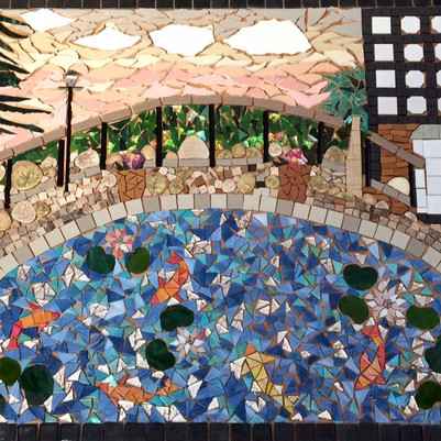 The finished piece before grouting