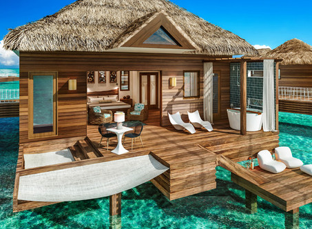 All-Inclusive Over-the-Water Bungalows in Mexico & the Caribbean