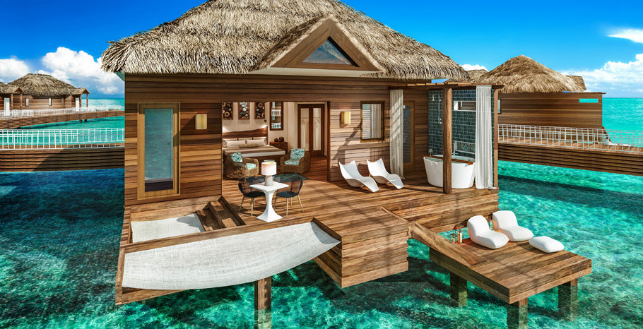 Sandals Grande St Lucian All-Inclusive Over the Water Bungalow