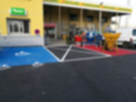 tracage parking magasin rhone alpes