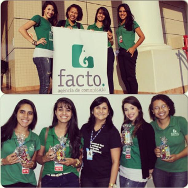 Membros da Facto conversaram com alunos de ensino médio sobre o curso e a empresa