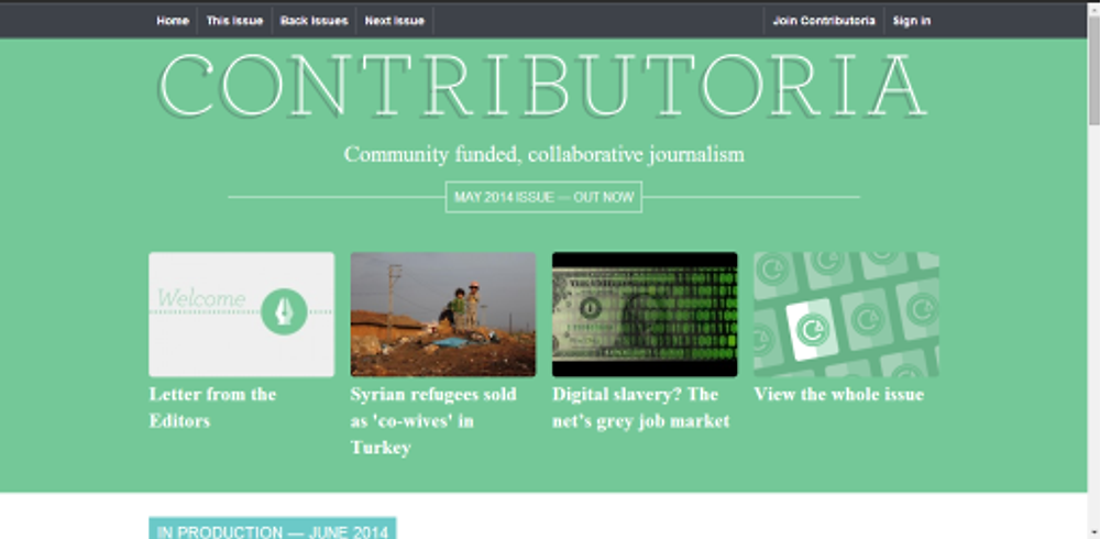 Página da Contributoria