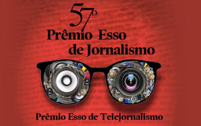 Cartaz do 57º Prêmio Esso de Jornalismo, na categoria Telejornalismo