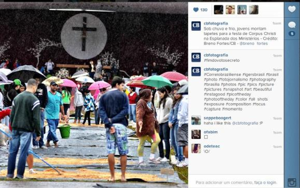 Cobertura feita pelo Correio Braziliense (http://instagram.com/cbfotografia) sobre a festa de Corpus Christi, na Esplanada.