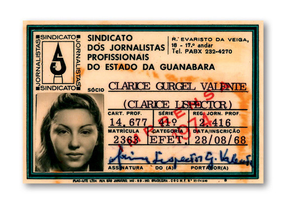 O registro de jornalista, tirado em 1968