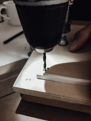 Schablone für Lochmaß
