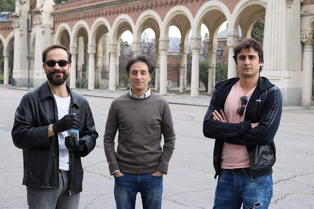 Javier Peña, Actor, Borja Peña y Jorge Pobes en uno de los descansos.