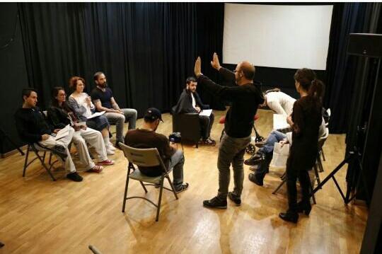 Javier Peña, Actor durante una práctica del curso del director Víctor Matellano.