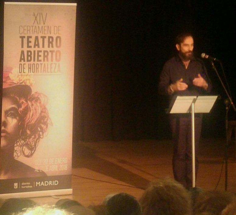 Javier Peña, Actor durante la inauguración del Certamen.