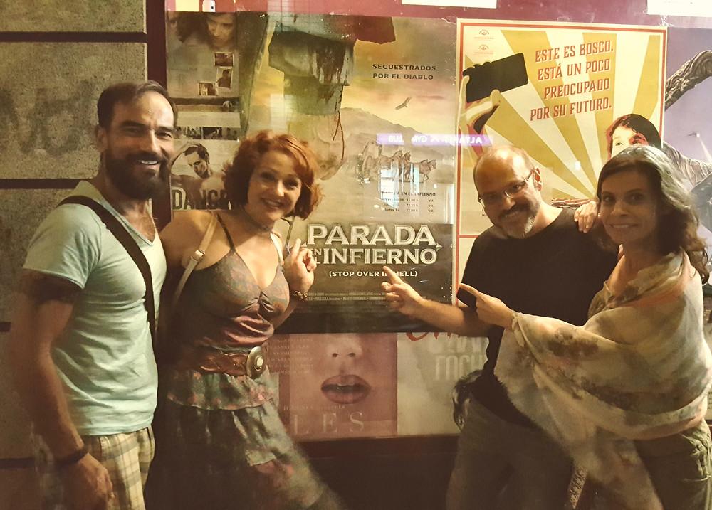 Javier Peña, Actor junto al director Víctor Matellano, y las actrices Eva Velasco y Natalia Fisac