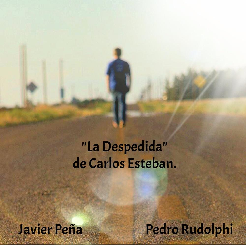 """Cartel promocional de """"La Despedida"""", con Javier Peña, Actor."""