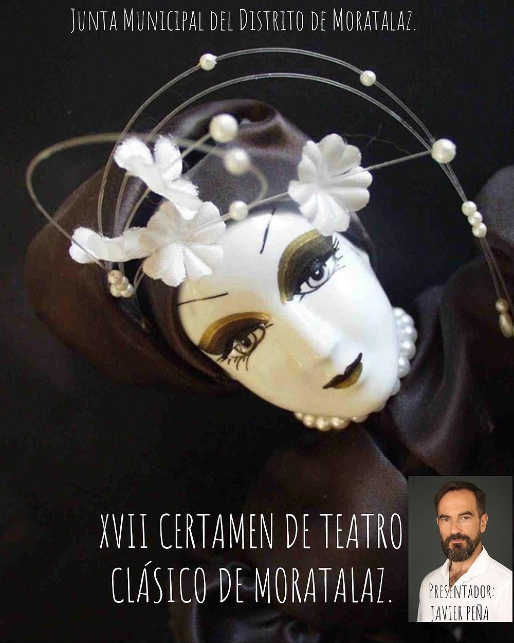 Cartel promocional del XVII Certamen de Teatro Clásico de Moratalaz.