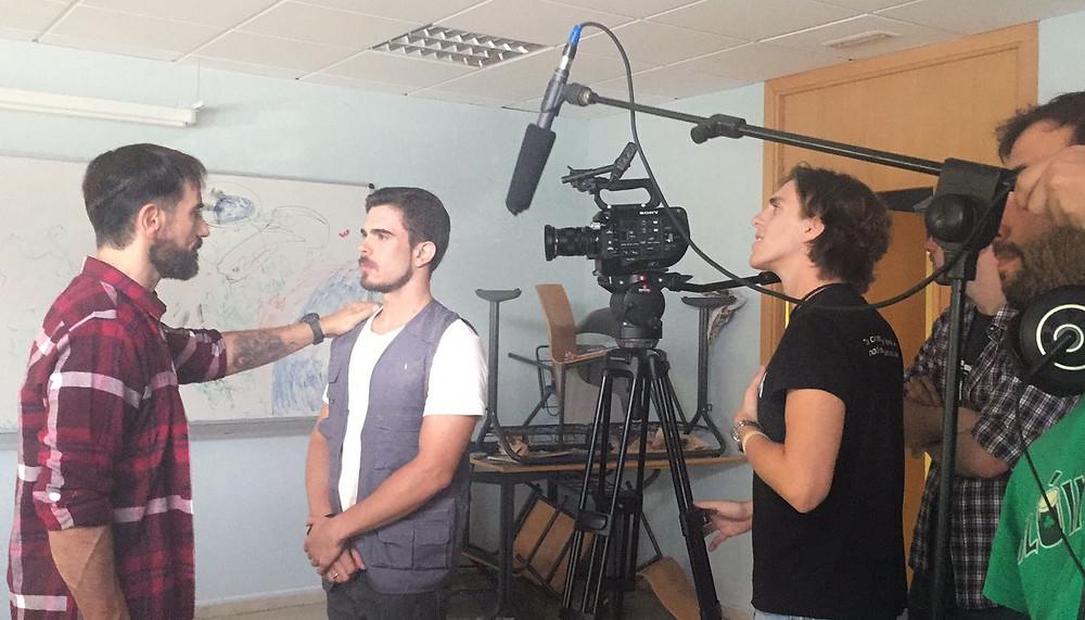 Javier Peña de nuevo junto a Carlos Bravo y el director de fotografía Álvaro Movilla.