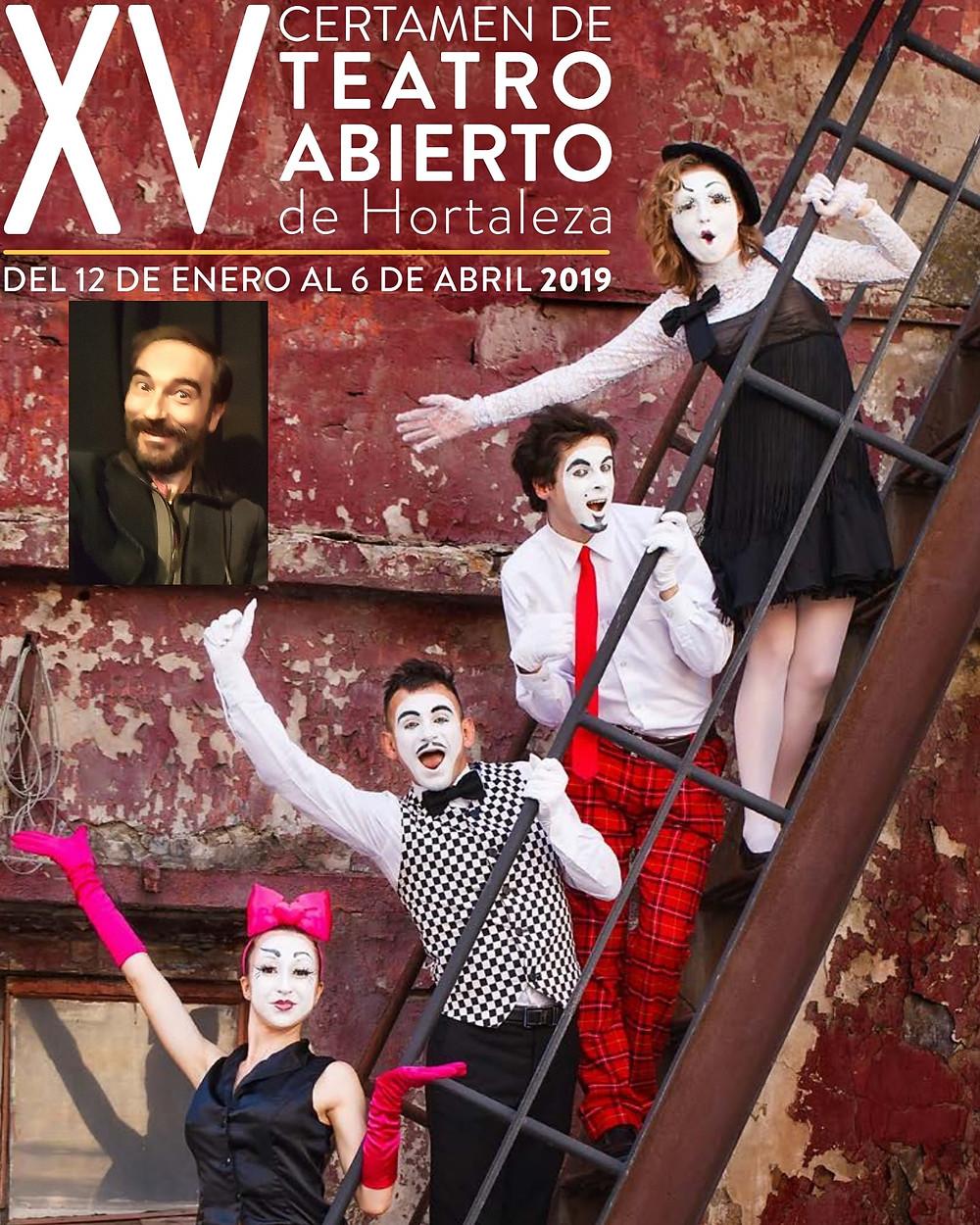 Cartel promocional del XV Certamen de Teatro Abierto de Hortaleza