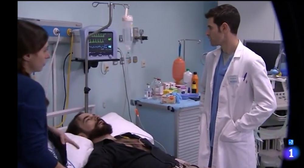 """Javier Peña, Actor en el momento de entrar en parada cardiorespiratoria en """"Centro Médico"""""""