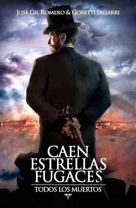 """Javier Peña, Actor en la portada principal de la novela """"Caen estrellas fugaces""""."""