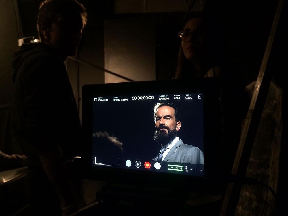 Javier Peña, Actor en un momento del rodaje.
