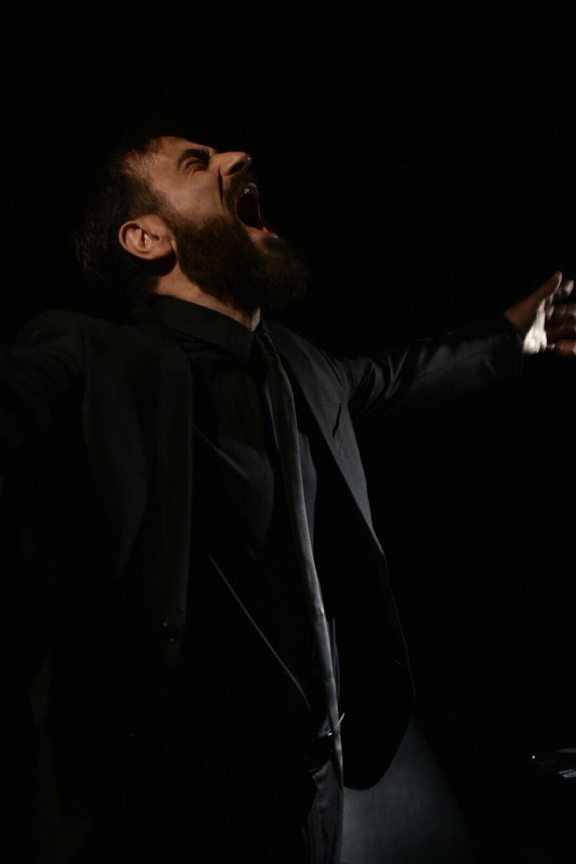 Momento de mayor dramatismo en el personaje de Javier Peña, Actor.