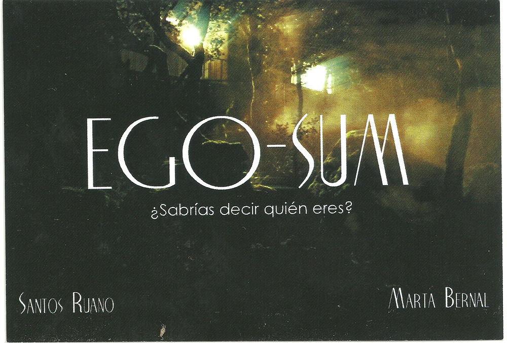 """Carteles promocionales del Largometraje """"Ego Sum"""" en el que ha participado Javier Peña, Actor."""