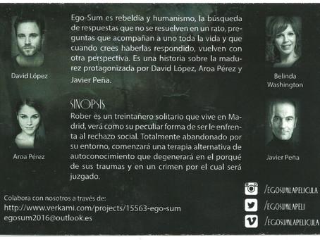 """Javier Peña, Actor antagonista en el Largometraje """"Ego-Sum""""."""