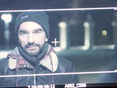 """Javier Peña, Actor en el rodaje del Cortometraje """"Puente""""."""