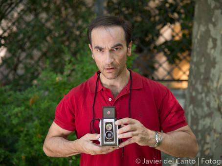 """Javier Peña, Actor trabaja en el Cortometraje de terror """"Souvenir"""" de la ECAM."""