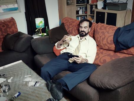 """Javier Peña, Actor en el rodaje de """"Sinergia""""."""
