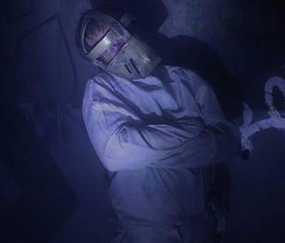 El actor Javier Peña participa en el Túnel del Terror de Colmenar Viejo 2017.