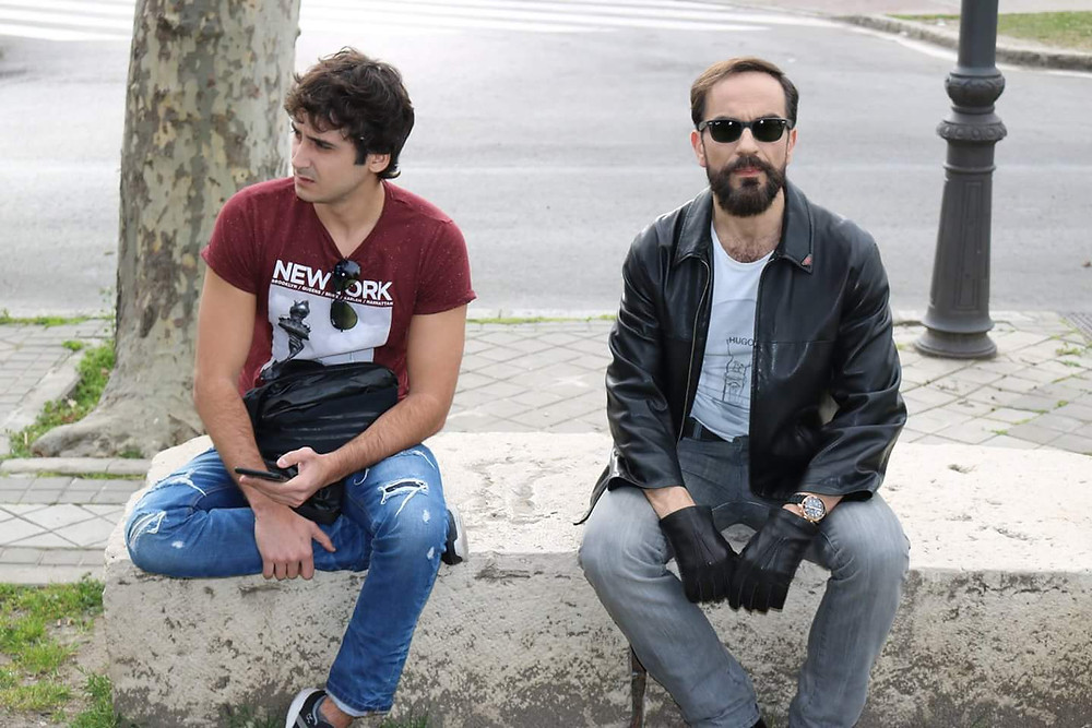 Javier Peña, Actor con Jorge Pobes en una de las secuencias...