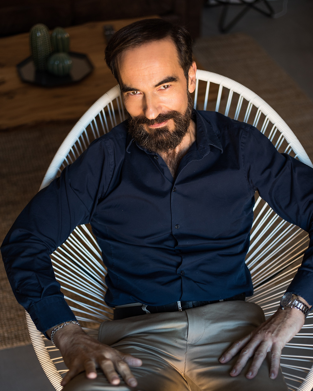 Excepcional resultado del trabajo como modelo del actor Javier Peña para David Prado.