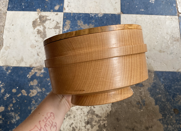 Turned Wood Japanese Lunch Box by Jon Fellows