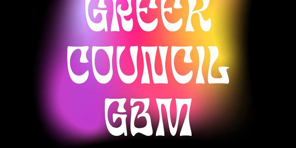 Jewish Greek Council General Body Meeting