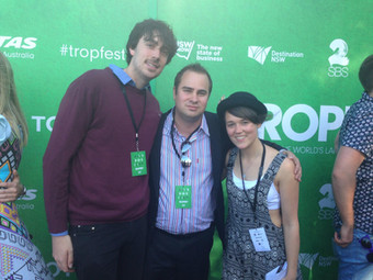 Cinematographer Tom, Producer Julz & Kaiya at TROPFEST