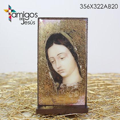 Retablo Chico Rostro Virgen de Guadalupe Dorado