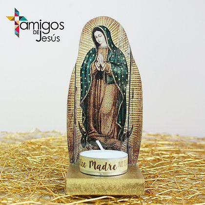 Portavela Dorado de la Vírgen María