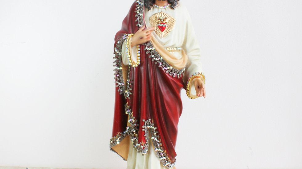 Sagrado Corazón de Jesús con Incrustaciones