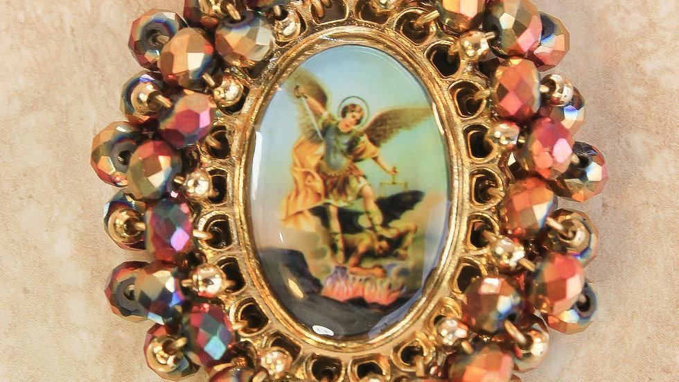 Medalla Sagrado Corazón de Jesús - San Miguel Arcángel