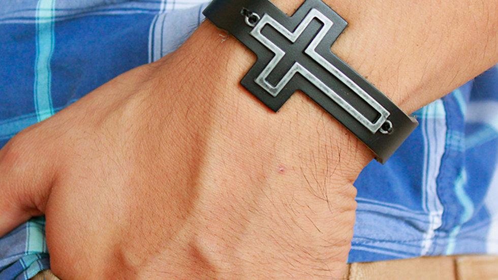 Pulsera con silueta de cruz