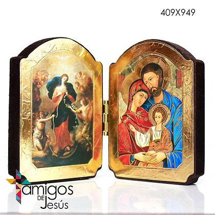 Díptico Virgen Desatanudos/Sagrada Familia