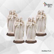 kit de 4 Sagrada Familia de cerámica