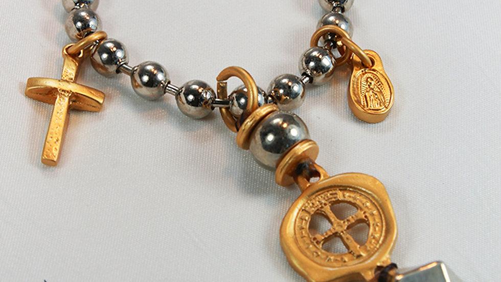 Collar Balines 3 medallas
