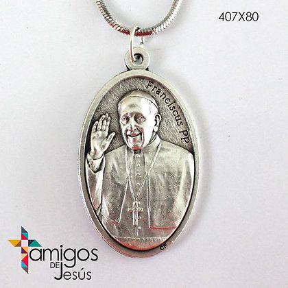 Collar Virgen Desatanudos - Papa Francisco