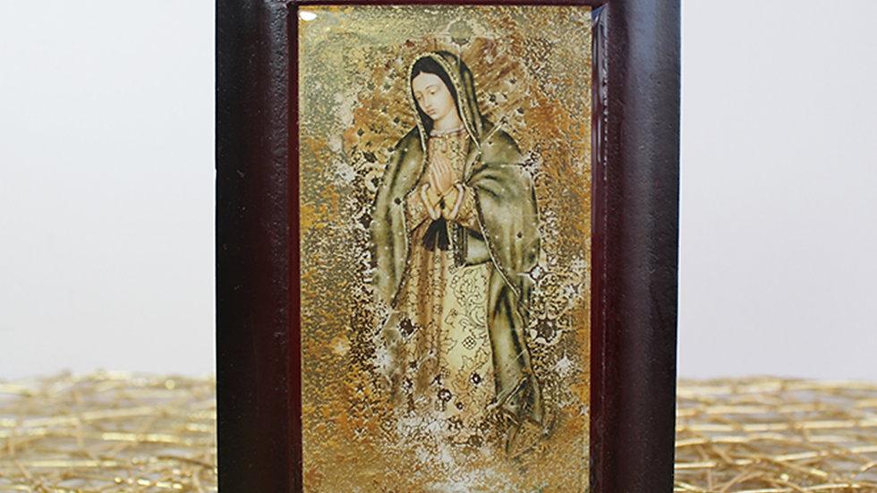 Retablo de Cuerpo Completo Virgen de Guadalupe Dorado