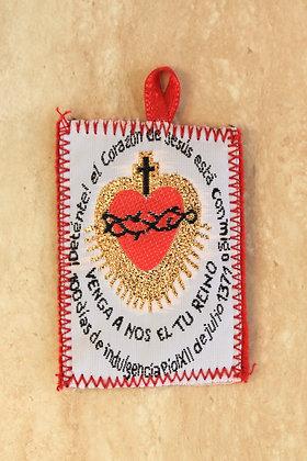 Escapulario Detente Sagrado Corazón de Jesús (12 Pzas)