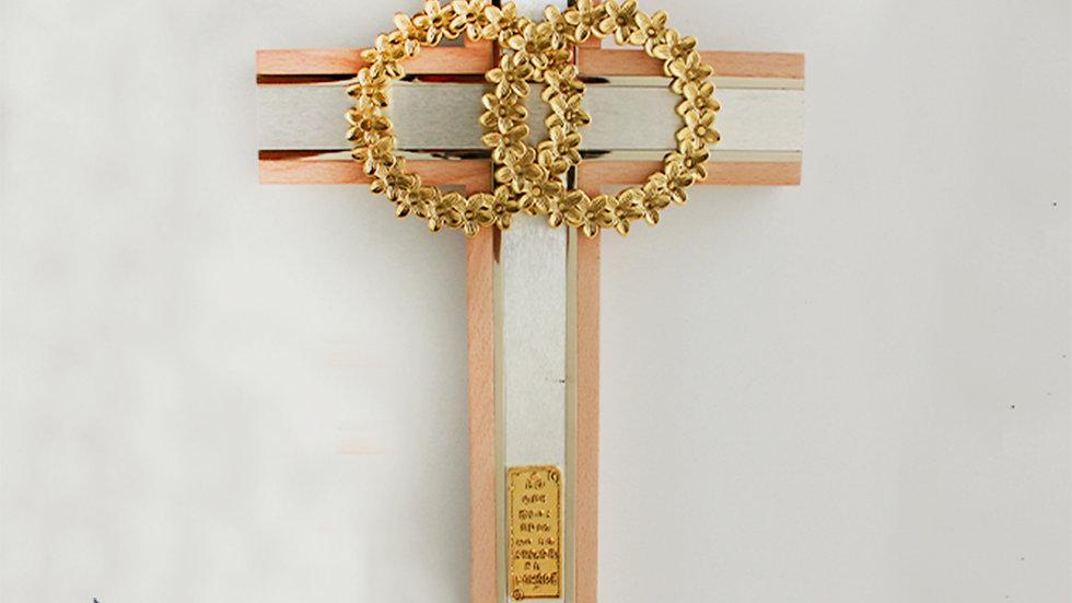 Cruz matrimonial dorada