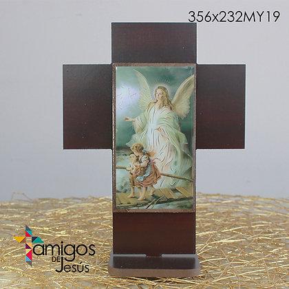 Cruz Ángel de la Guarda Madera