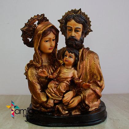 Busto de la Sagrada Familia Ocaso con Dorado