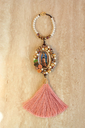Bendición Vírgen de Guadalupe con Piedras, Perlas y Cristales
